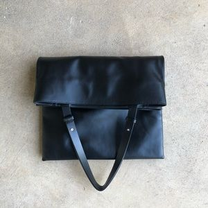 COS Large Leather Convertible Tote Bag